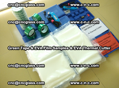 EVA FILM samples, Green tapes, EVA thermal cutter, for safety glazing (15)