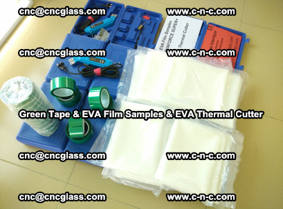 EVA FILM samples, Green tapes, EVA thermal cutter, for safety glazing (18)