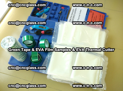 EVA FILM samples, Green tapes, EVA thermal cutter, for safety glazing (19)