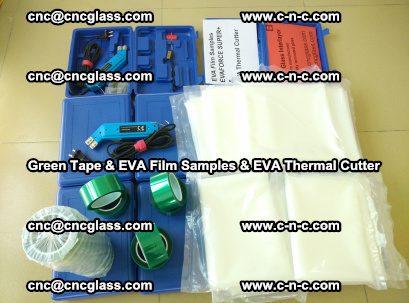 EVA FILM samples, Green tapes, EVA thermal cutter, for safety glazing (23)