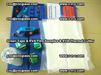 EVA FILM samples, Green tapes, EVA thermal cutter, for safety glazing (26)