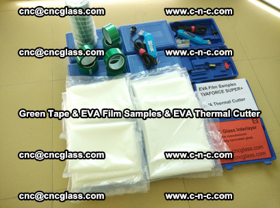 EVA FILM samples, Green tapes, EVA thermal cutter, for safety glazing (3)