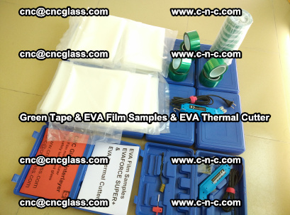 EVA FILM samples, Green tapes, EVA thermal cutter, for safety glazing (45)