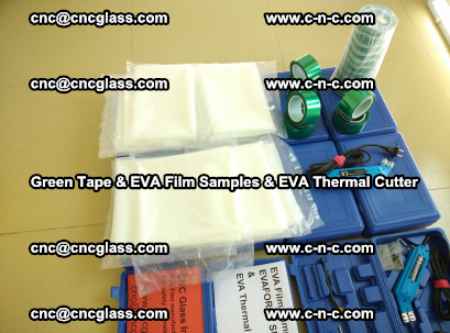 EVA FILM samples, Green tapes, EVA thermal cutter, for safety glazing (50)