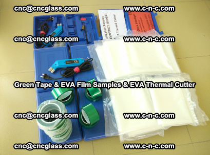 EVA FILM samples, Green tapes, EVA thermal cutter, for safety glazing (59)
