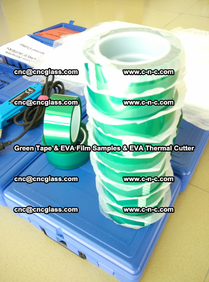 EVA FILM samples, Green tapes, EVA thermal cutter, for safety glazing (64)
