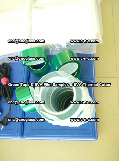 EVA FILM samples, Green tapes, EVA thermal cutter, for safety glazing (68)