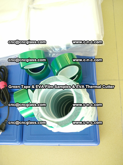 EVA FILM samples, Green tapes, EVA thermal cutter, for safety glazing (69)