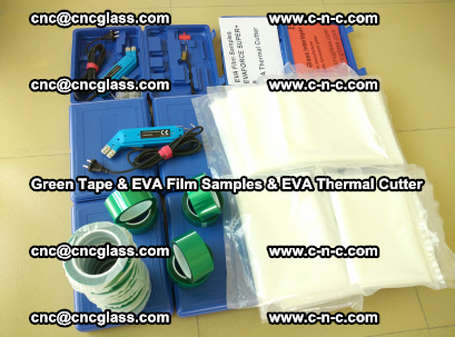 EVA FILM samples, Green tapes, EVA thermal cutter, for safety glazing (72)