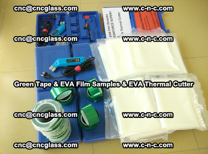 EVA FILM samples, Green tapes, EVA thermal cutter, for safety glazing (79)