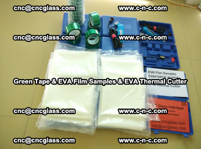 EVA FILM samples, Green tapes, EVA thermal cutter, for safety glazing (8)