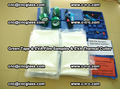 EVA FILM samples, Green tapes, EVA thermal cutter, for safety glazing (9)