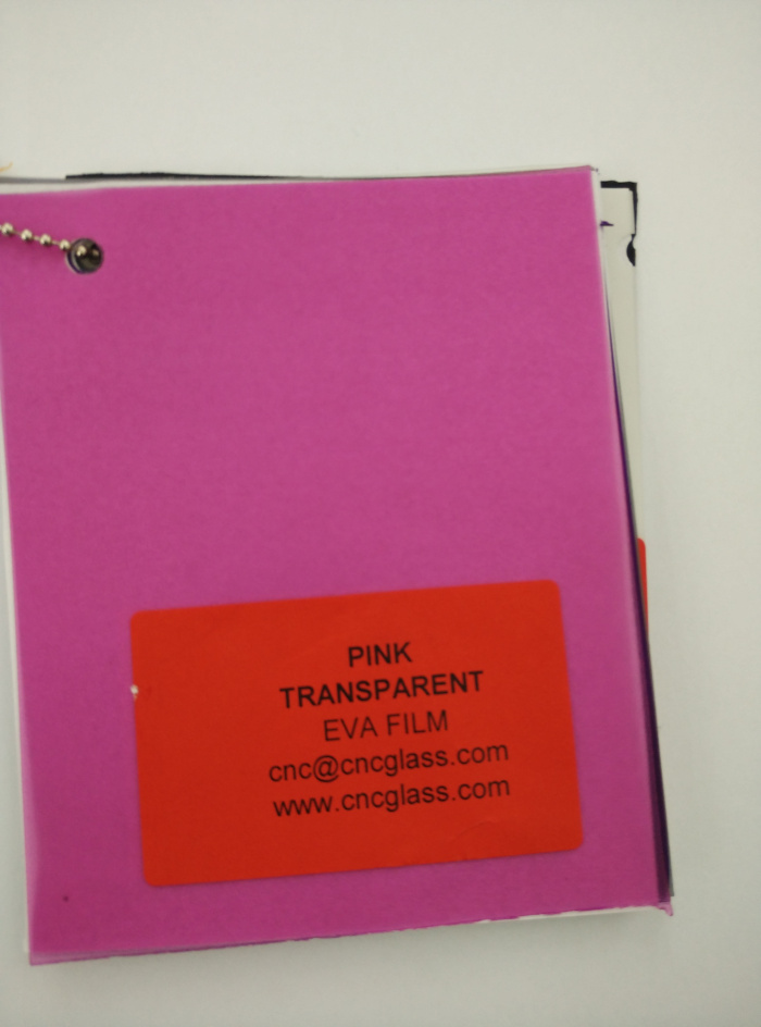 Pink EVAVISION transparent EVA interlayer film for laminated safety glass (2)