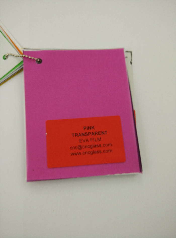 Pink EVAVISION transparent EVA interlayer film for laminated safety glass (63)