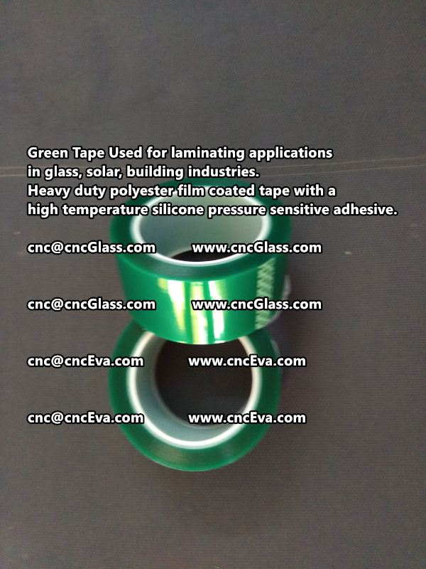High temperature Polyester PET Green Tape for Powder Coating (3)