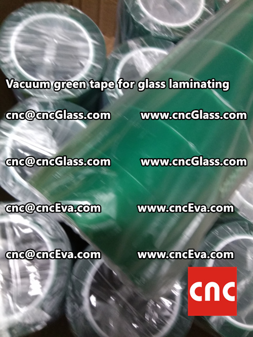 Vacuum green tape for glass laminating  (4)
